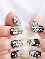 schrijf valse zwarte nagels nagel patch manicure afgewerkt Hook paragraaf manicure bruid