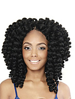 3pieces Afro Kinky Twist Freetress Crochet Braids Fluffy Jumpy Wand Curl Marley Hair 8 Colors Jamaican Twist Bouncy Curl Hair Extensions