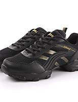 Non Customizable Men's Dance Shoes Fabric Fabric Modern Heels Chunky Heel Performance Gray / Gold