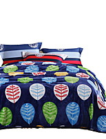 Flannel Multi-color,Solid Floral / Botanical 100% Polyester Blankets 200x230cm