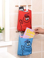 mur de la maison garde-robe couleur unie accrocher sac sacoche en tissu de cuisine (couleurs aléatoires)