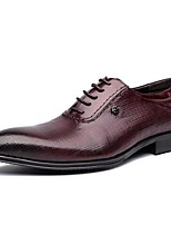 Men's Oxfords Comfort Cowhide Casual Black / Burgundy