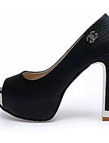 Women's Sandals Summer Comfort PU Dress Stiletto Heel Sequin / Sparkling Glitter Black / White Others