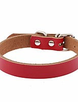 Cat / Dog Collar Reflective / Adjustable/Retractable / Hands free / Cosplay / Running / Casual Solid Red / Black / Blue / Brown / PinkPU