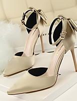 Черный / Розовый / Красный / Серый / Золотистый / Бордовый-Женский-На каждый день-Полиуретан-На шпильке-Удобная обувь-Обувь на каблуках