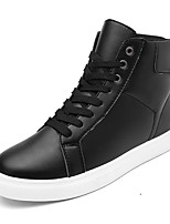 Men's Boots Spring Fall Winter Comfort PU Outdoor Casual Athletic Flat Heel Lace-up Black Green White Others