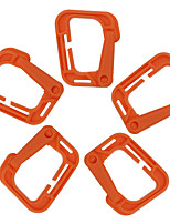 FURA Outdoor High-Strength Nylon Carabiners for Backpacks - Black / Orange / Green / Khaki(5 PCS)