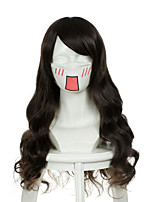 Fate Stay Night Tohsaka Rin Cana Alberona Dark Brown Long Curly Halloween Wigs Synthetic Wigs Costume Wigs