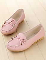 Черный / Розовый / Белый-Женский-На каждый день-Полиуретан-На плоской подошве-Удобная обувь-На плокой подошве