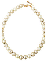 Natural White Pearl Necklace Pearl Choker Strand Necklaces for Women Wedding Party