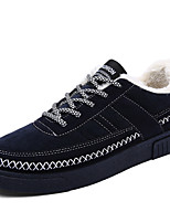 Men's Sneakers Spring Fall Winter Comfort Suede Twill Outdoor Casual Athletic Flat Heel Lace-up Black Blue Gray Others
