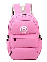 Unisex Canvas Casual School Bag Pink / Blue / Black