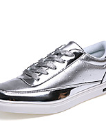 Men's Sneakers Spring Fall Comfort Glitter Casual Flat Heel Lace-up Black Silver Gold Walking