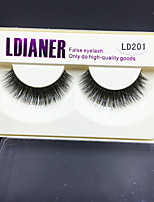 999 Eyelashes lash Full Strip Lashes Eyes Thick Volumized Handmade Animal wool eyelash Black Band 0.10mm 12mm