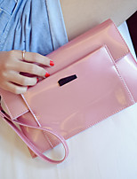 Women Patent Leather Casual Clutch