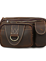 Europe and the United States men's outdoor leisure retro Crazy Horse Leather Crossbody Purse