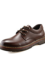 Men's Oxfords Spring / Summer / Fall / Winter Mary Jane PU Casual Flat Heel Lace-up Black / Brown / Yellow Others