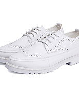 Men's Oxfords Spring / Summer / Fall / Winter Comfort PU Wedding / Office & Career / Party & Evening / Casual Low Heel Lace-upBlack /