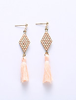 European And American Fashion Diamond Tassels Eardrop Bohemia Summer Amorous Feelings Of Earrings