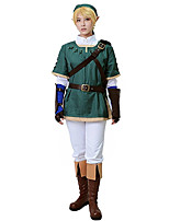 Inspired by The Legend of Zelda Link Anime Cosplay Costumes Cosplay Suits Patchwork White / Green Long SleeveCoat / Top / Pants / Cap /