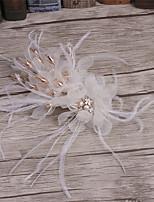 נשים נוצה / ריינסטון / בד כיסוי ראש-חתונה / אירוע מיוחד / קז'ואל קליפס לשיער חלק 1