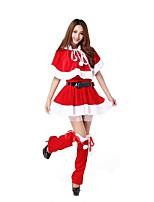 Fête / Célébration Déguisement Halloween Rouge Couleur Pleine Jupe / Ceinture / Jarretelle Noël Féminin
