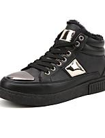 Herren-Sneaker-Lässig-Stoff-Flacher Absatz-Komfort-Schwarz / Silber / Schwarz und Gold