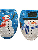 1PC Snowman Toilet Lid Stamp Toilet Cover Christmas Ornament(Style random)