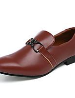 Черный Коричневый Белый-Мужской-Повседневный-Кожа-На плоской подошве-Удобная обувь-Мокасины и Свитер