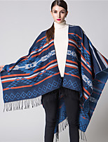 NITE OWL  Women Polyester ScarfCasual RectangleRed / Black / Blue / GrayJacquard-16050