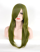 Green Straight Natural Wigs NEW Project Cosplay Fashion Synthetic Wigs High Temperature Heat Resistant Hair Capless Wigs