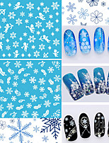 HOT! 12 Sheets Mixed Style Snowflakes Christmas 3D Nail Art Sticker Tips Decals Manicure DIY X'mas Sticker