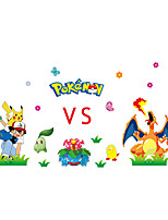 Pokemn Stickers 3D Cartoon Stickers Film Animals Wars Monster Wall Decals for Kids