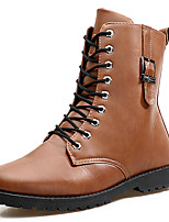Men's Boots Spring / Fall / Winter Others Cowhide Casual Lace-up Blue / Brown / Gray / Burgundy
