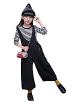 Girl's Casual/Daily Solid Overall & Jumpsuit / Clothing SetCotton Spring / Fall Black / Pink