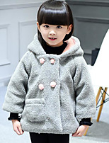 Girl's Casual/Daily Solid Suit & BlazerCotton Winter / Fall Gray