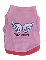Cat / Dog Shirt / T-Shirt Red / Green / Purple / Pink Dog Clothes Summer Angel & Devil Casual/Daily