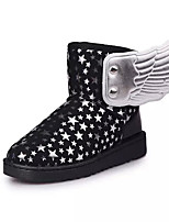 Girl's Boots Winter Comfort PU Dress / Casual Flat Heel Others Black / Blue / Purple / Gray Walking
