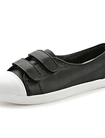 Women's Loafers & Slip-Ons Spring / Summer / Fall Comfort Leather Casual Flat Heel Magic Tape / Lace-up