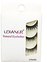 Eyelashes lash Full Strip Lashes Eyes Thick Volumized Handmade Fiber Black Band 0.07mm 14mm