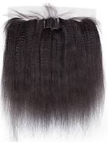 4x13 Closure kinky straight Human Hair Closure Medium Brown Swiss Lace about 50g gram Average Cap Size