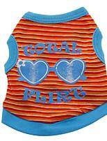 Chat / Chien Costume / T-shirt / Gilet Orange / Vert / Incanardin Vêtements pour Chien Hiver / Eté / Printemps/Automne RayureMignon /