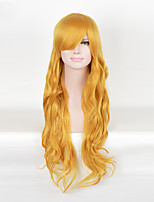 Long Cosplay Synthetic Wig Blonde Color For Afro Women
