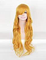 lange Cosplay synthetische Perücke blonde Farbe für Afrofrauen