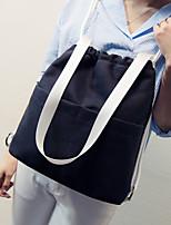 Women Canvas Casual Backpack Beige / Brown / Black