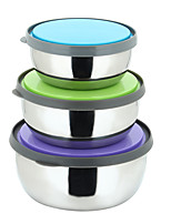 Stainless Steel Multi-functional Fresh Bowl 3 Sets