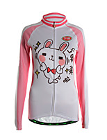 Sports Cycling Jersey Women's Long Sleeve Thermal / Front Zipper / Back Pocket / Ultra Light Fabric Bike Jersey