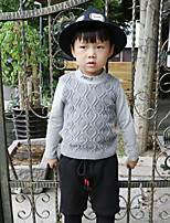 Boy's Casual/Daily Solid Hoodie & SweatshirtCotton Fall Red / Gray