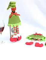 noël ornements couverture de bouteille de vin de Noël