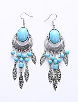 Retro Earrings The European And American Fashion Oval Earrings Long Earrings Female Big Folk Customs